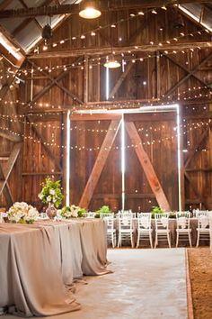 lights in a barn.....dreamy.......