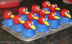 My Jayhawk cupcakes made their way to Pinterest.  Might as well pin them myself.