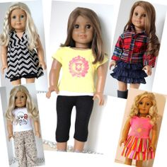 """CUTE DOLL CLOTHES FITS 18"""" AMERICAN GIRL DOLL- LOT OF 10 PC - AP206"""