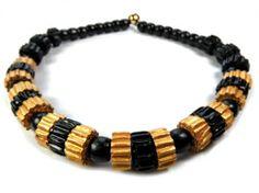 Beaded Bracelets, Necklaces, Black Gold, Men, Jewelry, Fashion, Moda, Jewlery, Jewerly