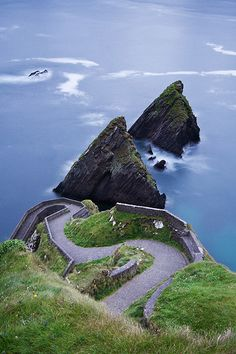 Dun Chaoin Pier at the Blasket Islands, County Kerry, Ireland
