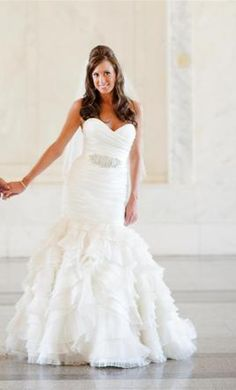 Lazaro LZ3050 6: buy this dress for a fraction of the salon price on PreOwnedWeddingDresses.com