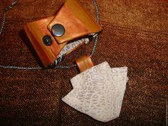 Купить комплект из натуральной кожи- Вечерняя прогулка - коричневый, комплект украшений, комплект, кулон