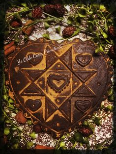 Beautiful blackened wax heart I created from a vintage mold. Lovely for Valentines or anytime... by: Ye Olde Crow Primitives