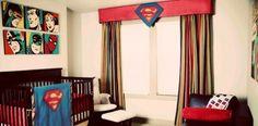 Baby boy superhero nursery...so cute! I would do the avengers though