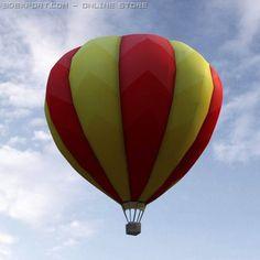 3D Model Fire Balloon c4d, obj, 3ds, fbx, ma, lwo 13092