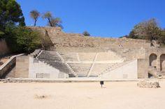 #Odeion (theatre) in #Acropolis of #Rhodes, #Greece. Wikipedia