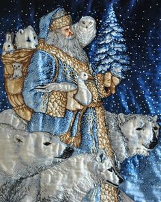 And of course I love this one because I love the Coke Polar Bears ! Blue Santa - Bing Images