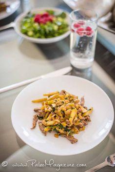 Easy Zucchini Beef Saute with Garlic and Cilantro [Paleo, Keto, AIP] #paleo #recipe #aip #keto - https://ketosummit.com/zucchini-beef-saute-recipe