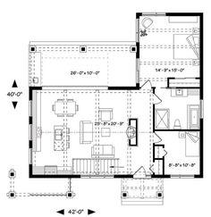 Maravilloso Plano de casa de 110 m2 y 2 dormitorios