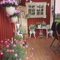 @interiorbyc #föowers #summer #sweden #inspiration #decoration #ute #outdoor #altan #veranda #shabbychic #shabbyhomes #shabbychicdecor #whitehomestyle #pink