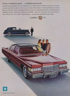 Items similar to 1975 Cadillac Car & 1938 Caddy Town Car Photo Ad Red Classic Automobile Vintage Advertisement Wall Art Decor Print on Etsy Cadillac Fleetwood, Fleetwood Town, Rolls Royce, Chevrolet Bel Air, Chevrolet Trucks, Chevrolet Corvette, Vintage Advertisements, Vintage Ads, Ford Modelo T