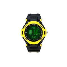 Lixada Spovan Multifunktions Uhr Outdoor Sports Digital LED-Armbanduhr - http://uhr.haus/lixada/gelb1-lixada-spovan-multifunktions-uhr-outdoor