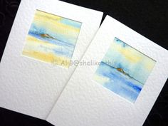 Original watercolour seascape painting handmade by shelikesthis