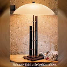 Hubbardton Forge 26-8422 Metra Double Glass Table Lamp - hub-26-8422