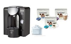 Tassimo T55 Home Coffee Brewing System by Bosch Bundle   32 T Discs Second Cup   Mavea Fliter Boxed TAS5542UC