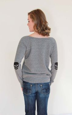 Skull elbow patch Tattoo T Shirts, Elbow Patches, Skull, Style Inspiration, Pullover, Sweaters, Fashion, Moda, Sweater