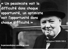 Difficulty is opportunity. Winston Churchill, Positive Attitude, Positive Quotes, Citations Blog, Famous Quotes, Best Quotes, Quote Citation, Motivational Phrases, French Quotes