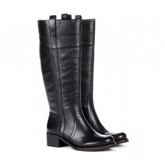 classic black knee high riding boots    Pinned on behalf of Pink Pad, the women's health mobile app with the built-in community