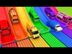 There are seven toy cars today. What is there in the toy garage? Oh, it's a soccer ball! When a soccer ball rolls and surprises a car, A c. Toy Garage, Learning Colors, Pretend Play, Soccer Ball, Kids Playing, Cars, Street, Vehicles, Youtube