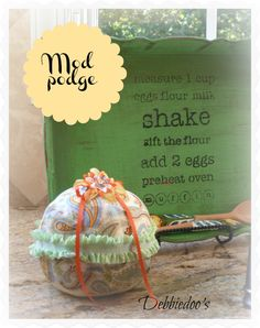 Fall pumpkins decorated with Mod Podge