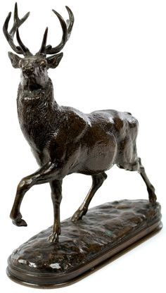 Cerf, la jambe levee | From a unique collection of figurative sculptures at https://www.1stdibs.com/art/sculptures/figurative-sculptures/