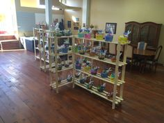 Shelves and baskets! Store Fronts, Baskets, This Is Us, Shelves, Building, Furniture, Home Decor, Shelving, Homemade Home Decor
