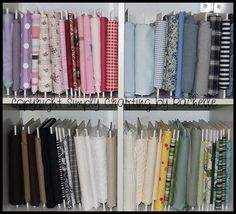 Oh how I would LOVE to have my fabric organized like this!!