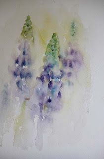 Watercolours With Life: Summer Delight: Lupin in Watercolour