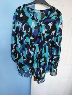 DAVID EMMANUEL BLUE MIX WOMEN'S TOP SIZE UK 16 EUR 44 #TOP Online Price, Size 16, David, Shirt Dress, Mens Tops, Blue, Shirts, Ebay, Fashion