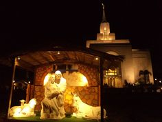 San Salvador El Salvador Temple with Nativity. The Church of Jesus Christ of Latter-day Saints. #lds #mormon