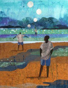 from the city to the sea — Ekua Holmes African American Artist, American Artists, Harlem Renaissance Artists, African Diaspora, Mixed Media Collage, New Artists, Face Art, Artist At Work, Street Art