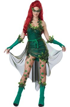 Lethal Beauty Adult Costume #poisonivy #batman #comicbooks #halloween #costumes #superheroes