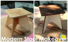 Nine Red: Modern Stool Makeover