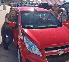 SHELLY's new 2015 CHEVROLET SPARK! Congratulations and best wishes from Orr Chevrolet and WESTON FROST.