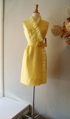 60's Dress // Vintage 1960's Ruffled Man Men by xtabayvintage, $148.00