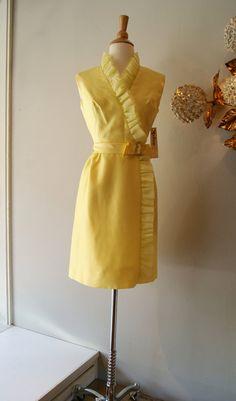 60's Dress // Vintage 1960's Ruffled Man Men by xtabayvintage, $148.00