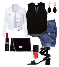 """""""Untitled #4"""" by squirreldaria on Polyvore featuring Essie, Sandro, Rodo, Erica Lyons, Gucci, Smashbox and LE3NO"""