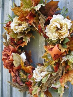 Autumn floral wreath....drying flowers from my garden now for autumn :-)