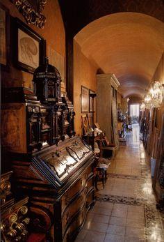 Entance hall leading to the srudio of laura sartori rimini and roberto peregalli