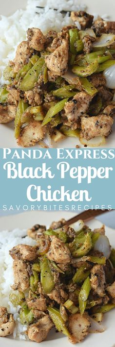 Spicy Black Pepper Chicken(panda Express Copycat) is perfect recipe to try for the weekends! Easy recipe and with basic ingredients like celery and Onion-wonderful dish to enjoy! Turkey Recipes, Chicken Recipes, Dinner Recipes, Restaurant Recipes, Dinner Ideas, Panda Express Recipes, Black Pepper Chicken, Asian Recipes, Spicy Recipes