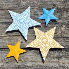 Free Ramadan 3D star + banner printables from Sakina Design.