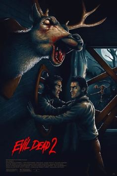 "Horror Movie Poster Art : Evil Dead ""Dead By Dawn"", 1987 by Adam Rabalais Best Horror Movies, Classic Horror Movies, Horror Show, Scary Movies, Horror Icons, Horror Movie Posters, Movie Poster Art, Thriller, Evil Dead Movies"