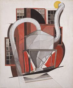 Charles Demuth, Machinery, 1920,tempera and pencil on cardboard,  24 x 19 7/8 inches. Metropolitan Museum, Alfred Stieglitz Collection, 1949.