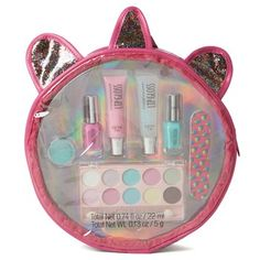 Featuring her favorite cosmetics in fun colors, this girls' Unicorn cosmetics case is sure to make her smile. Little Girl Makeup Kit, Makeup Kit For Kids, Little Girl Toys, Baby Girl Toys, Kids Makeup, Cute Makeup, Toys For Girls, Makeup Ideas, Justice Makeup