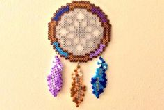 Different Feathers Perler Bead Dreamcatcher