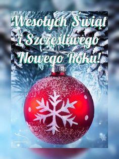 Kartka pod tytułem ❄Wesołych Świąt i szczęśliwego Nowego Roku! Christmas Bulbs, Christmas Decorations, Holiday Decor, New Year Images, Art Projects, Happy Birthday, Polish, Disney, Funny