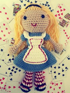 Free Alice in Wonderland Crochet Doll Pattern | Book People Studio @Natalie Jost Torres