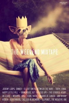 The Weekend Mixtape - Every Friday you can look forward to a new playlist, purposefully designed just to make you smile. Happy Little Pill, The Strokes, Mixtape, Make You Smile, Friday, Make It Yourself, Music, Movie Posters, Musica