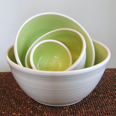 Nesting Bowls - love the green